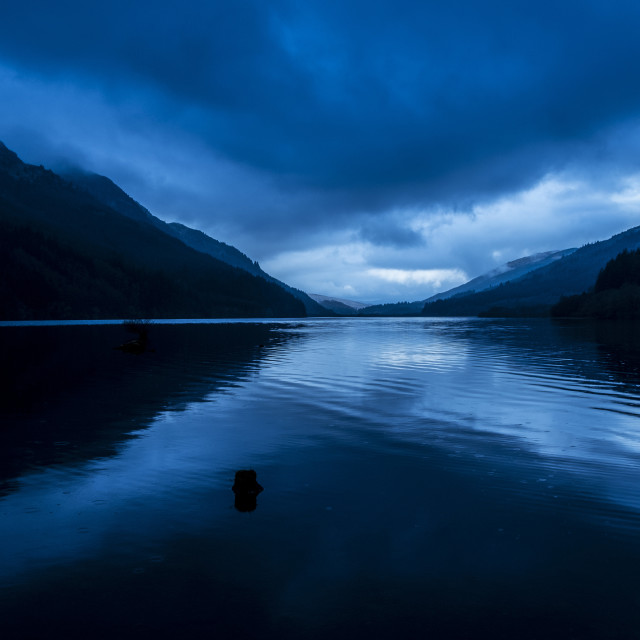 """Saltire on Loch Eck"" stock image"
