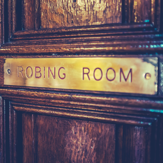 """""""Parliament Robing Room Sign"""" stock image"""