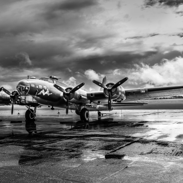 """Flying Fortress B-17"" stock image"