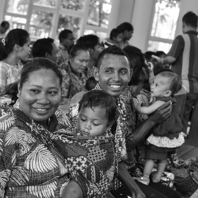 """""""Christening Procession in Indonesia"""" stock image"""
