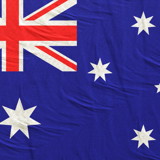 """""""3d rendering of Australia flag"""" stock image"""