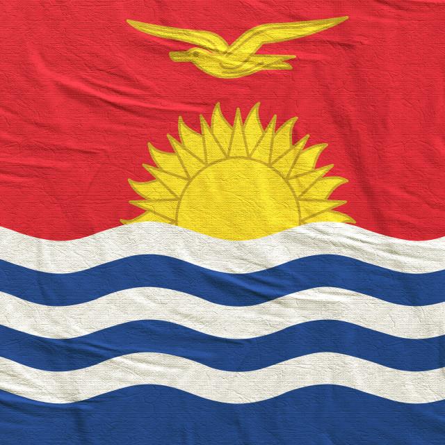 """""""3d rendering of Kiribati flag"""" stock image"""