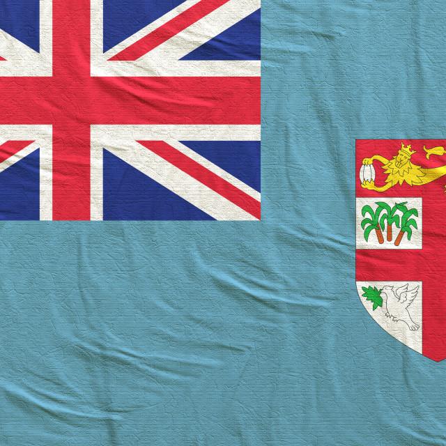 """3d rendering of Fiji flag"" stock image"