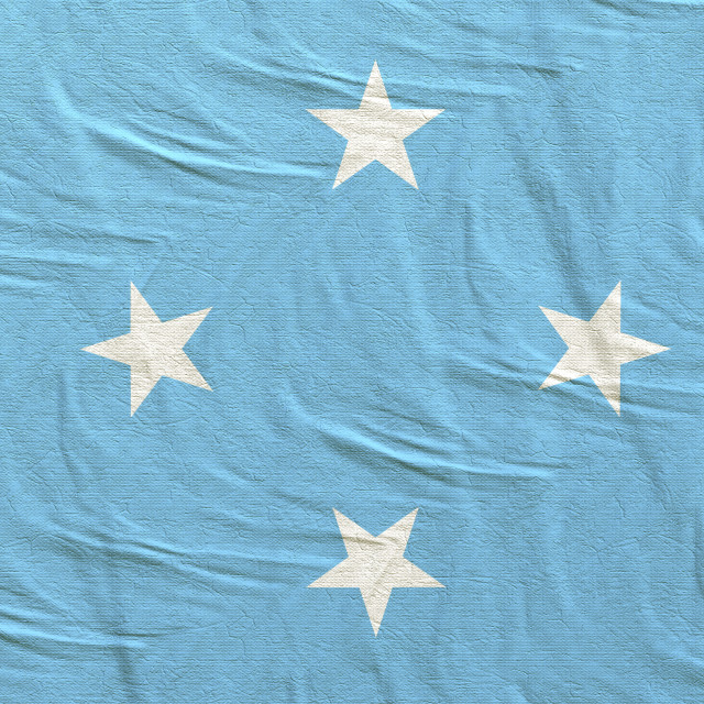 """3d rendering of Micronesia flag"" stock image"