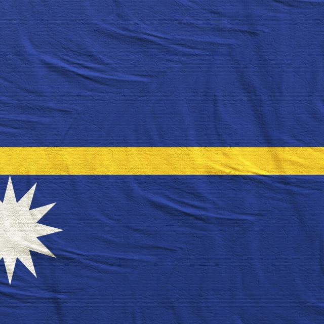 """""""3d rendering of Nauru flag"""" stock image"""