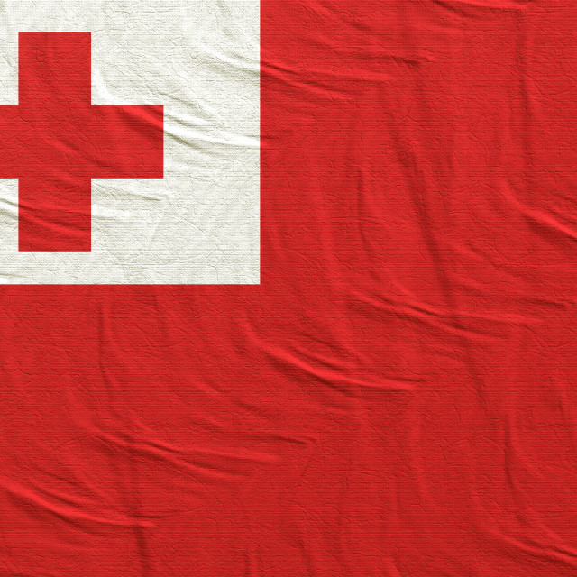 """3d rendering of Tonga flag"" stock image"