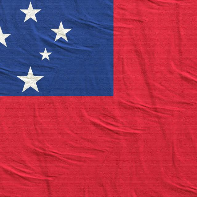 """""""3d rendering of Samoa flag"""" stock image"""