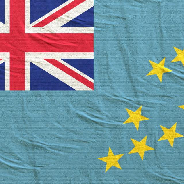 """3d rendering of Tuvalu flag"" stock image"