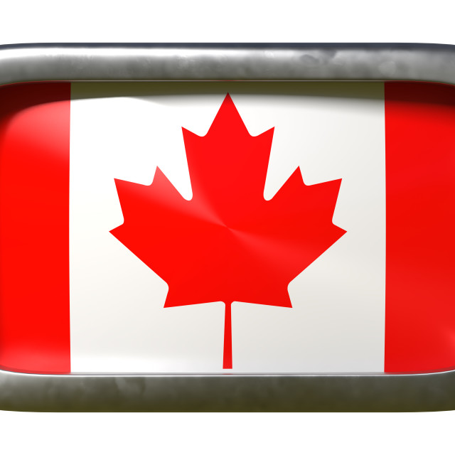 """""""Canada flag sign"""" stock image"""