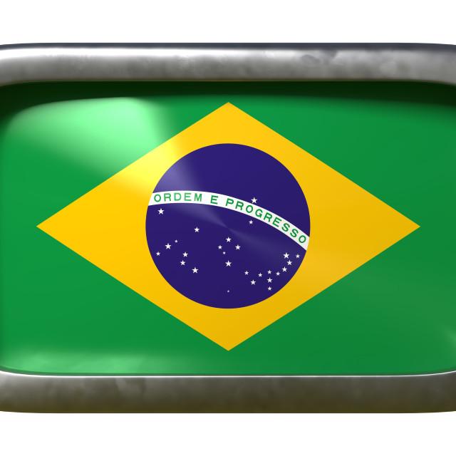"""""""Brazil flag sign"""" stock image"""