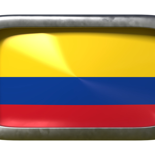 """""""Colombia flag sign"""" stock image"""