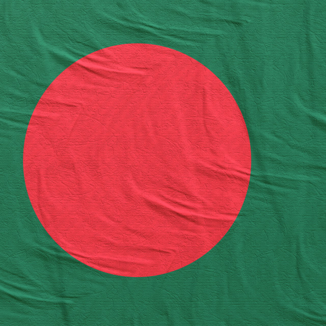 """3d rendering of Bangladesh flag"" stock image"