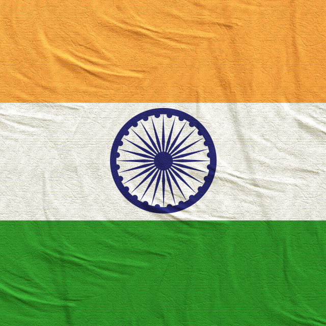 """3d rendering of India flag"" stock image"