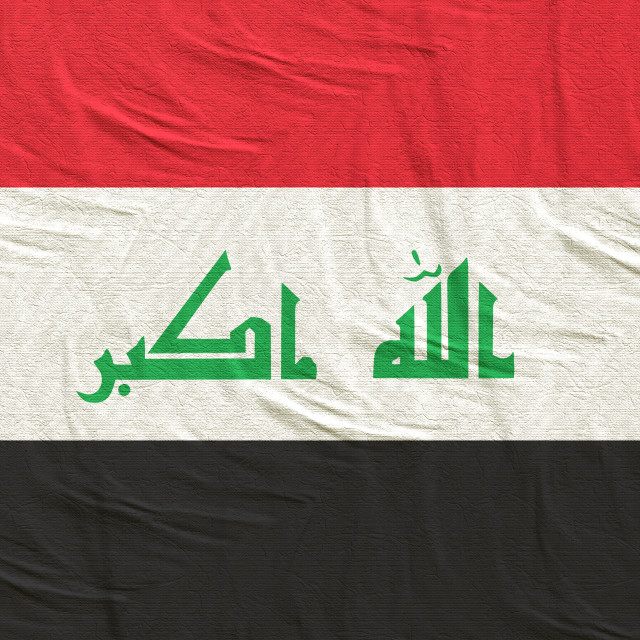"""3d rendering of Iraq flag"" stock image"