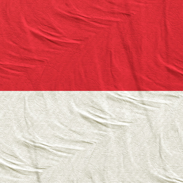 """3d rendering of Indonesia flag"" stock image"