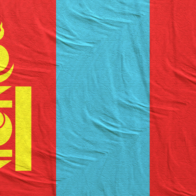 """3d rendering of Mongolia flag"" stock image"