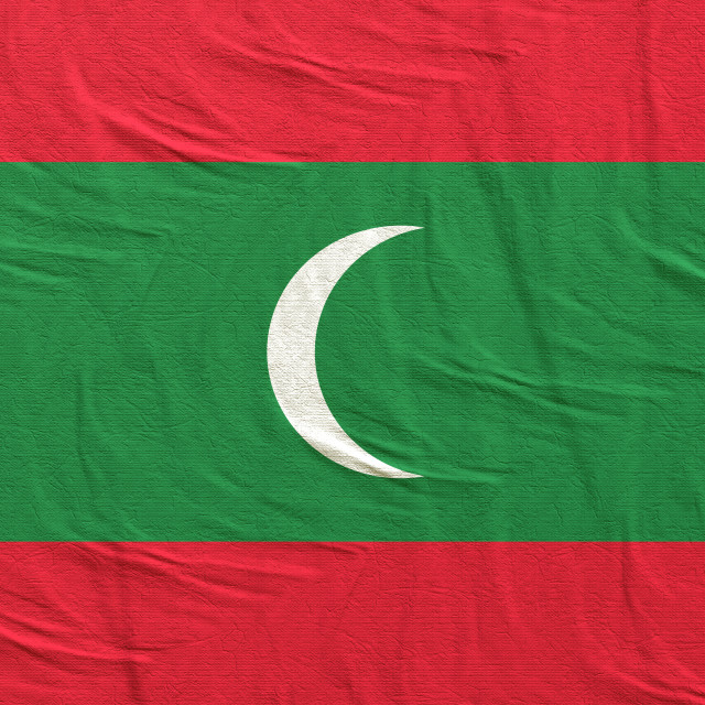 """3d rendering of Maldives flag"" stock image"