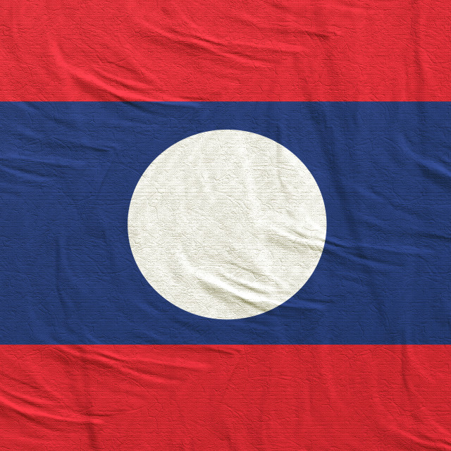 """3d rendering of Laos flag"" stock image"