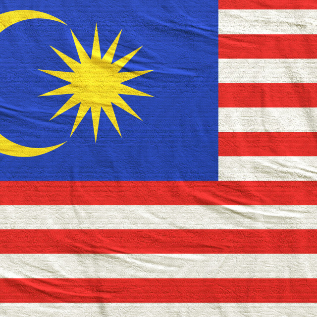 """3d rendering of Malaysia flag"" stock image"