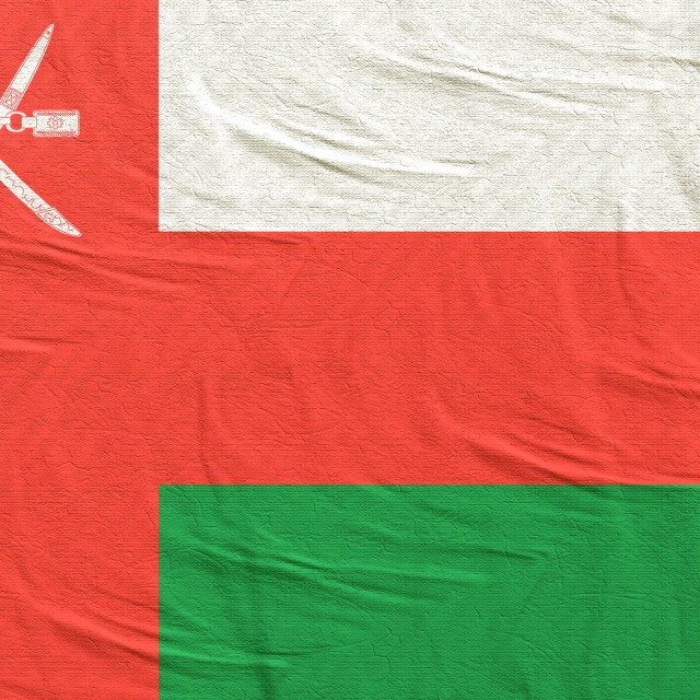 """3d rendering of Oman flag"" stock image"