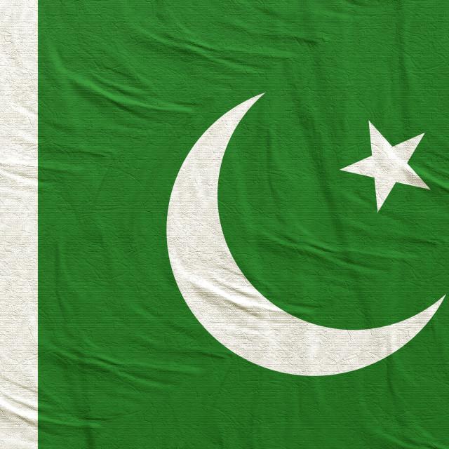"""3d rendering of Pakistan flag"" stock image"