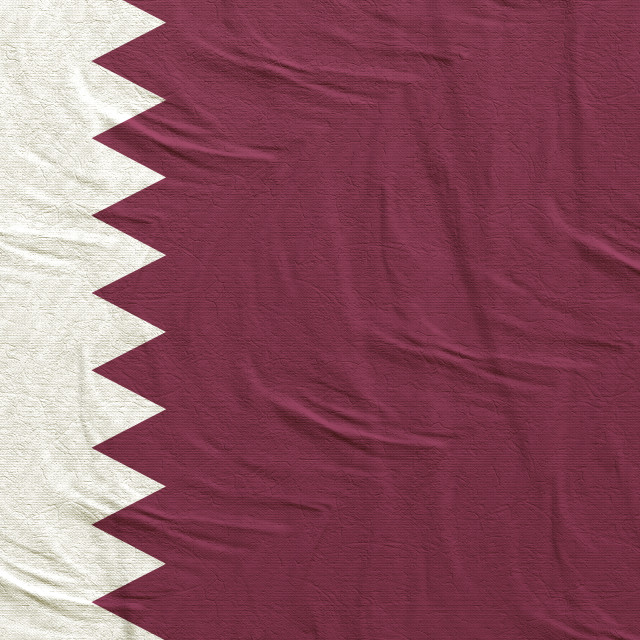 """3d rendering of Qatar flag"" stock image"