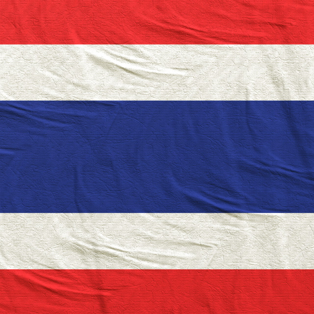 """3d rendering of Thailand flag"" stock image"