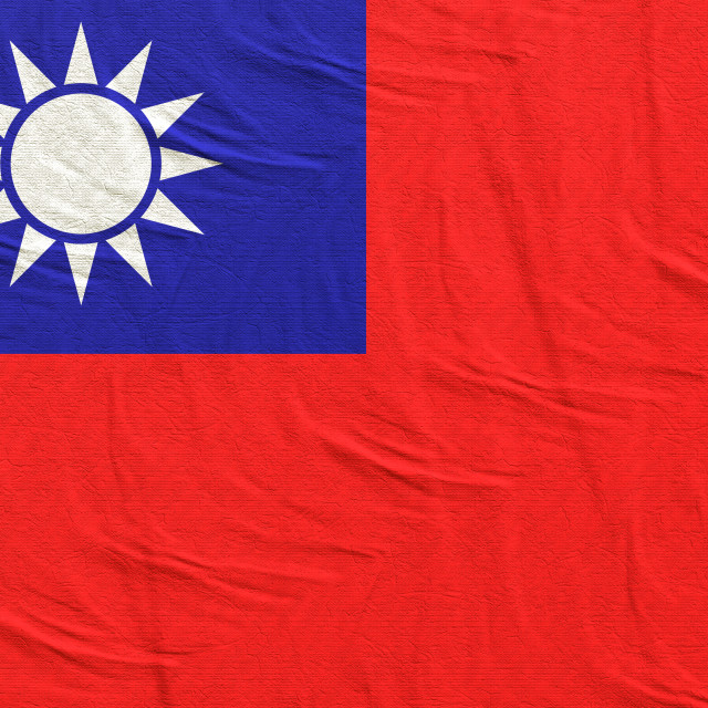 """3d rendering of Taiwan flag"" stock image"