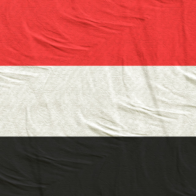 """3d rendering of Yemen flag"" stock image"