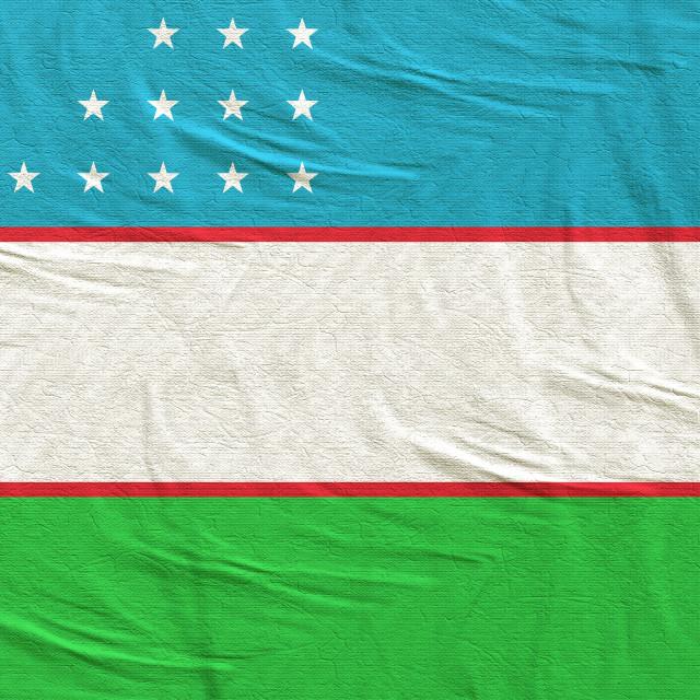 """3d rendering of Uzbekistan flag"" stock image"
