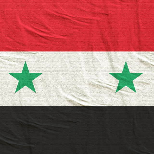 """""""3d rendering of Syria flag"""" stock image"""