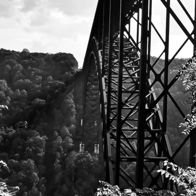 """Under the New River Gorge Bridge"" stock image"