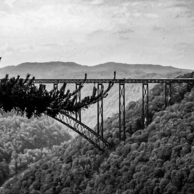 """New River Gorge Bridge"" stock image"