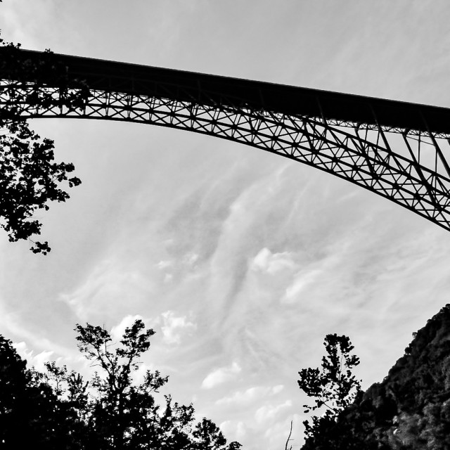 """Below the New River Gorge Bridge"" stock image"