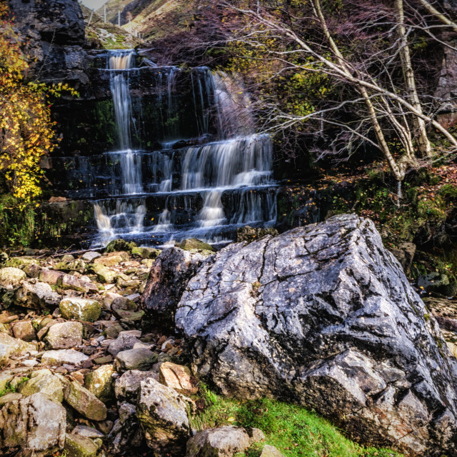 """Swinner Gill Waterfall II"" stock image"