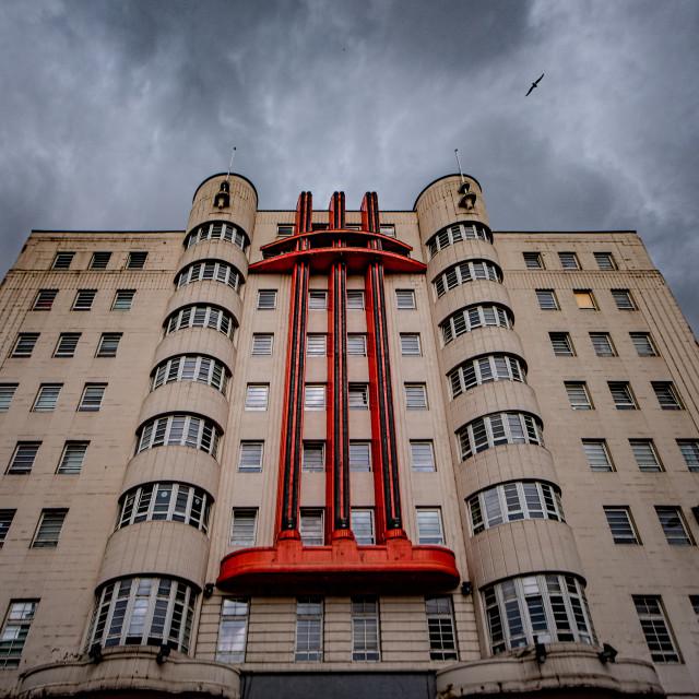 """Art Deco building on Sauchiehall Street"" stock image"