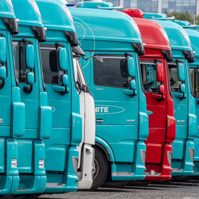 """""""Lorry Cabins"""" stock image"""