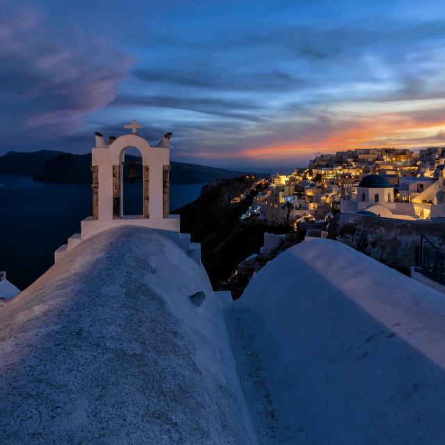 """view to Oia Santorini Greece"" stock image"