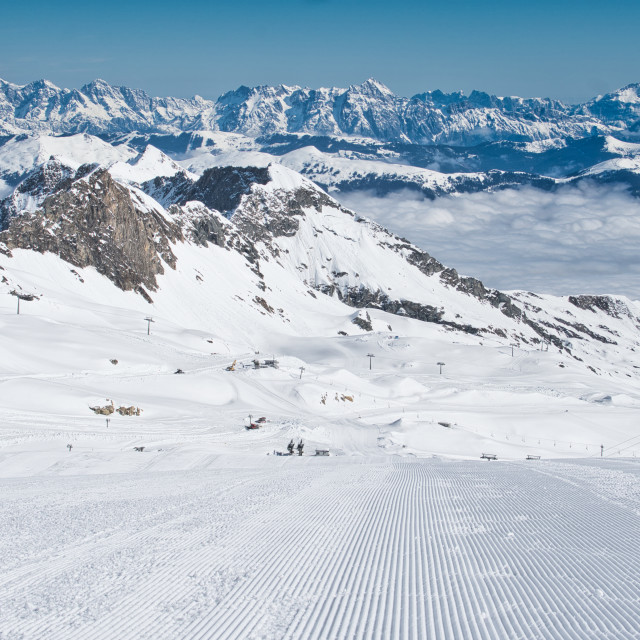 """""""On the piste"""" stock image"""