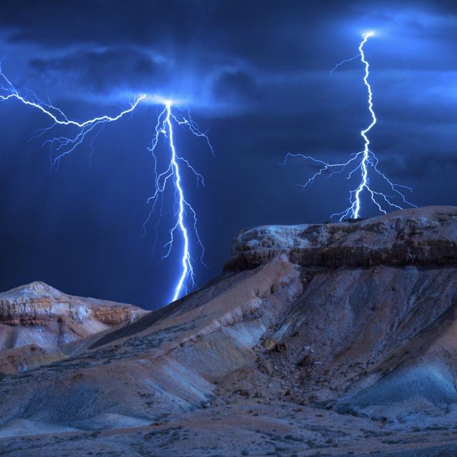"""Storm Cell: Arckaringa Hills, South Australia"" stock image"