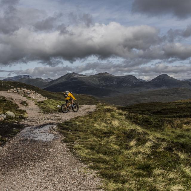 """""""Mountain Biking in the Mountains"""" stock image"""