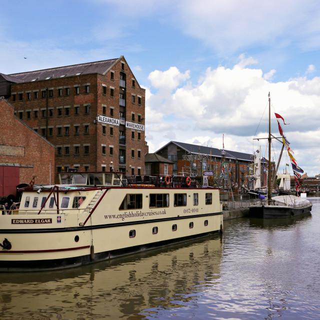 """Historic Gloucester Docks"" stock image"
