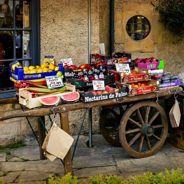 """""""Fruit Cart"""" stock image"""