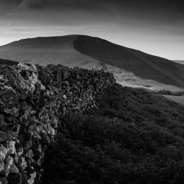 """Leading the way to Mam Tor"" stock image"
