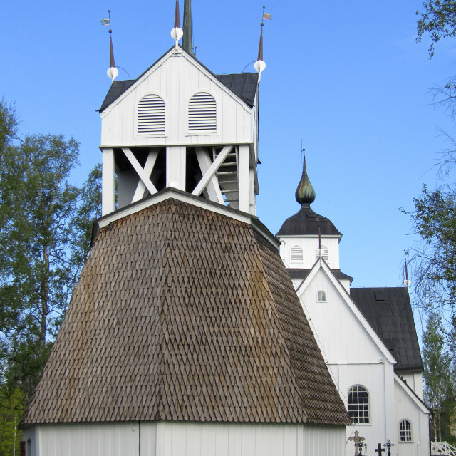 """Church in Pitea, Sweden"" stock image"