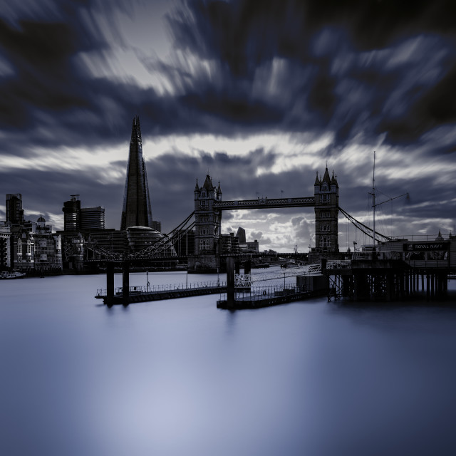 """The City (moody blue)"" stock image"