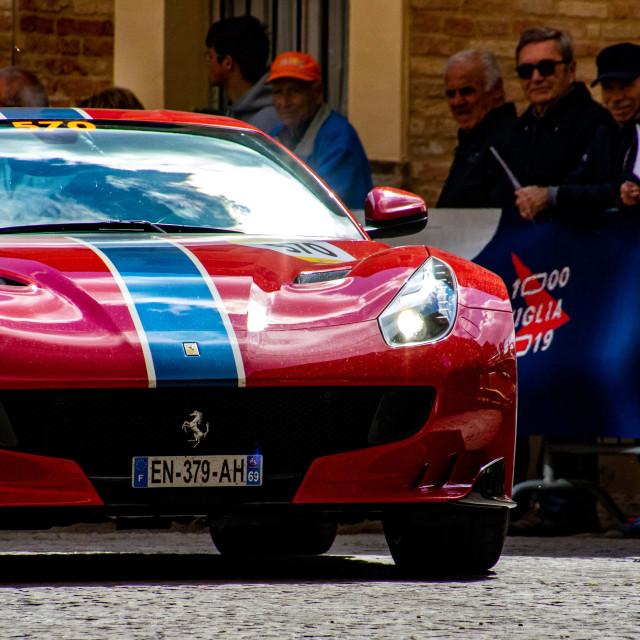 """""""Ferrari Tribute to the 2019 Mille Miglia"""" stock image"""