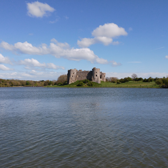 """Carew Castle Wales"" stock image"