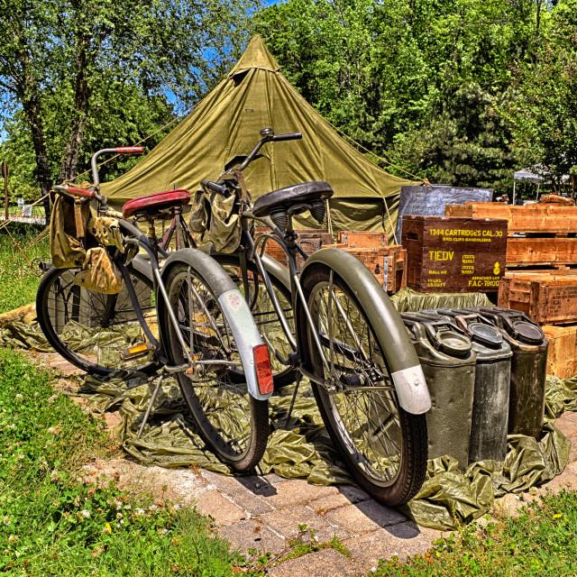 """Military Bikes"" stock image"