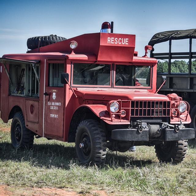 """Rescue Truck"" stock image"